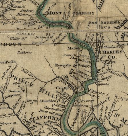 Jefferson 1786-87 Map Depicting Newgate